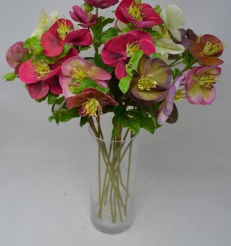 Natural Touch Hellebores Stem (4 Colors)