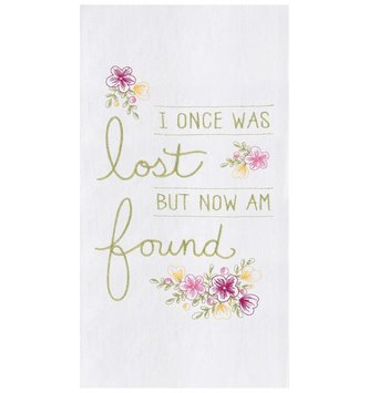 Lost But Found Embroidered Kitchen Towel