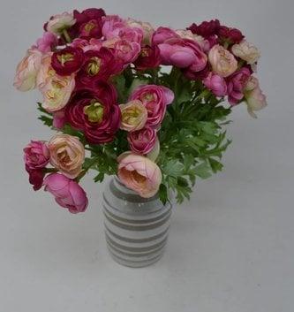 Pink Mini Ranunculus Bush
