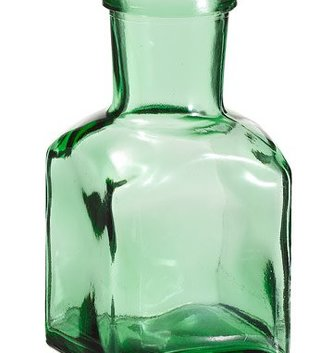 Green Spice Glass Bottle