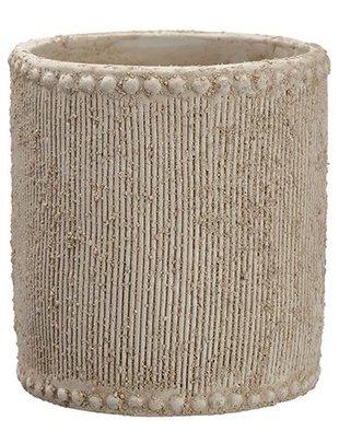 Beaded Clay Pot