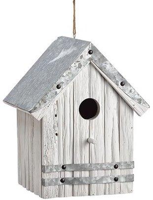Whitewashed Galvanized Birdhouse