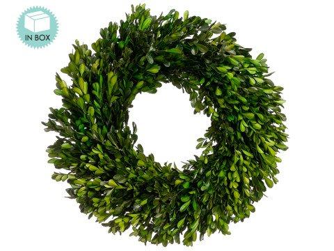 "17"" Preserved Boxwood Wreath"