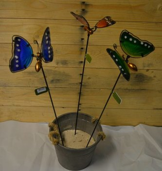 """22"""" Glass Butterfly Stake (3 Colors)"""