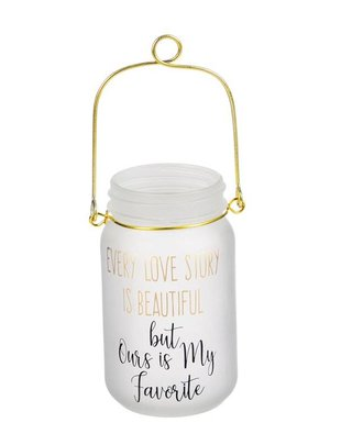 Every Love Story LED Mason Jar