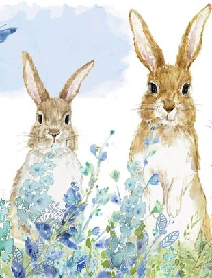 Bunnies in the Meadow Cocktail Paper Napkins