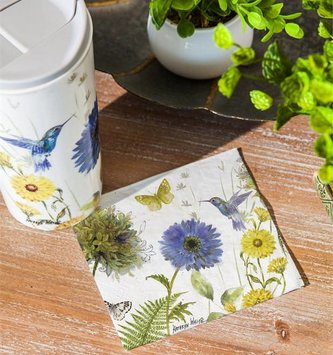 Floral Garden Paper Napkins (2 Sizes)