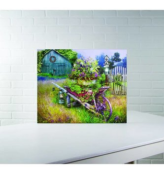 Lighted Garden in Spring Canvas