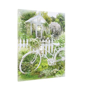 Lighted Vintage Bicycle in Garden Canvas