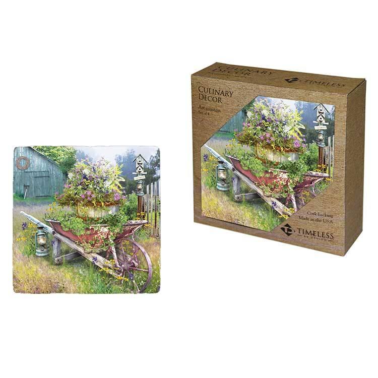 Garden in Spring Coaster Set of 4