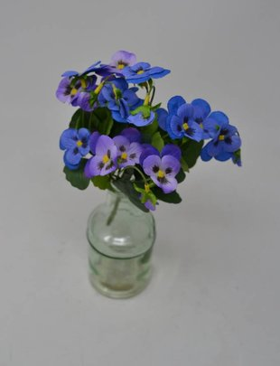 Blue Purple Petite Pansy Pick