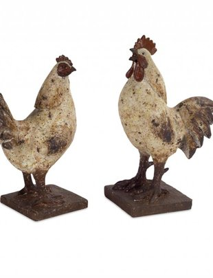 Standing Distressed Tabletop Chicken(2 Styles)