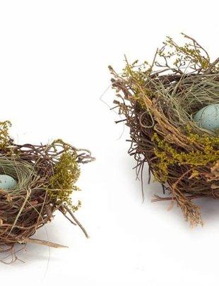 Blue Speckled Egg Nest (2 Sizes)