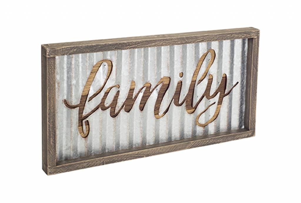 Galvanized Cut-Out Family Sign