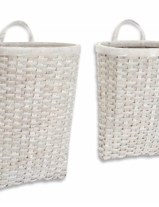 Hanging Gray Woven Basket (2 Sizes)