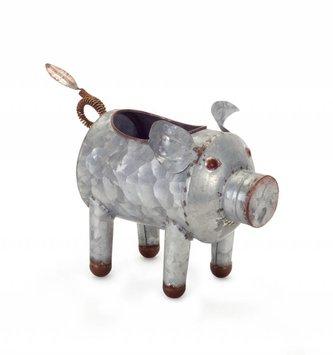 Mini Galvanized Pig Planter