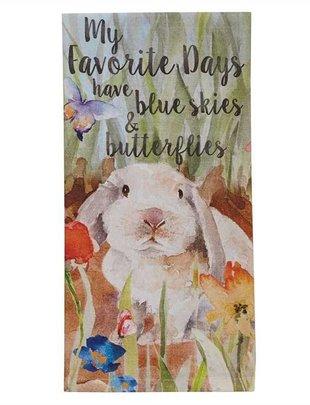 Enchanted Garden Bunny Towel