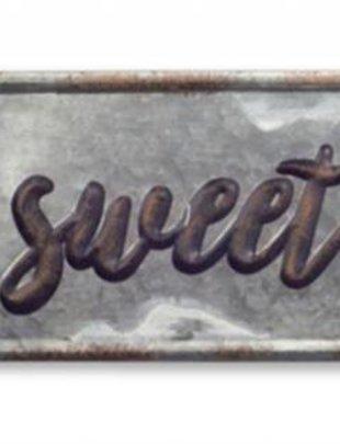 Galvanized Home Sweet Home Plaque