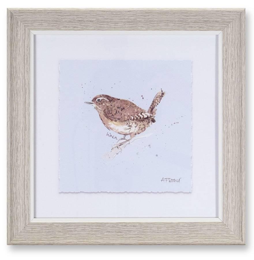 "10"" Square Framed Bird Print  (4 Styles)"