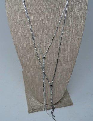 Rhinestone Slider Necklace (2 Colors)