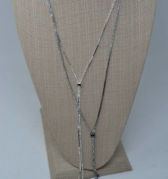 Rhinestone Slider Necklace (2 Colors)