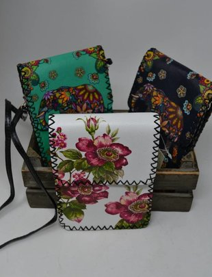 Stitched Floral Crossbody Bag (3 Styles)