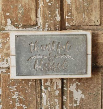 Whitewashed Galvanized Sign (2 Styles)