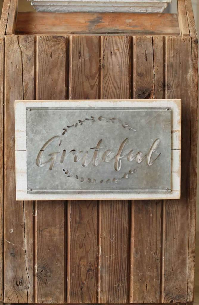 Whitewashed Galvanized Sign (2 Styles)