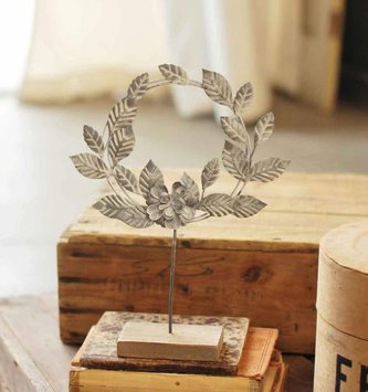 Nora Metal Wreath on Stand (2 Sizes)