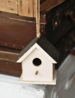 Ribbed Metal Roof Birdhouse