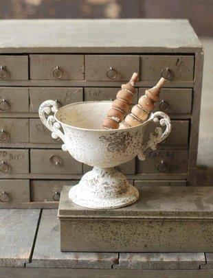 Vintage Cream Urn w/ Handles