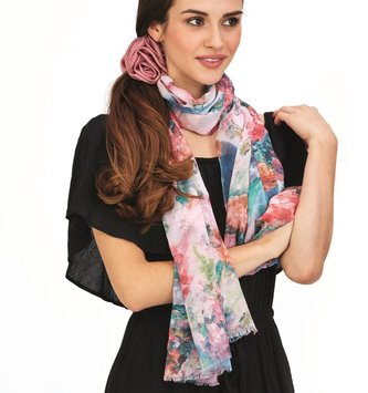 Watercolor Floral Scarf (3 Styles)