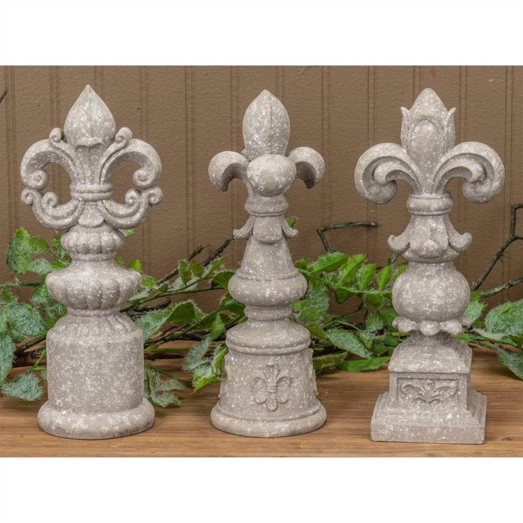 Antiqued Gray Finial (3 Styles)