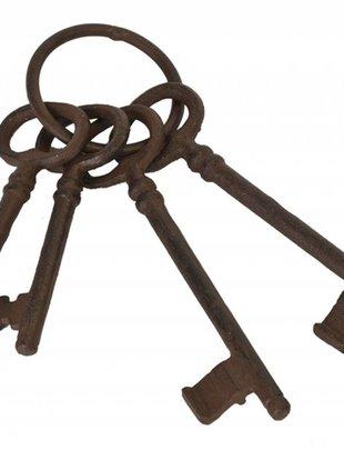 Set of 4 Cast Iron Keys