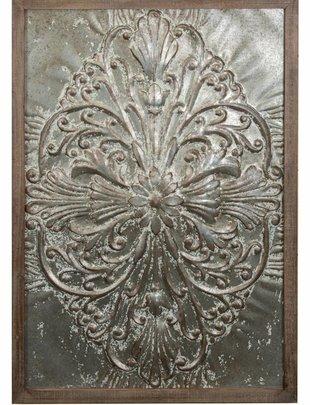 XL Wooden Framed Galvanized Wall Art