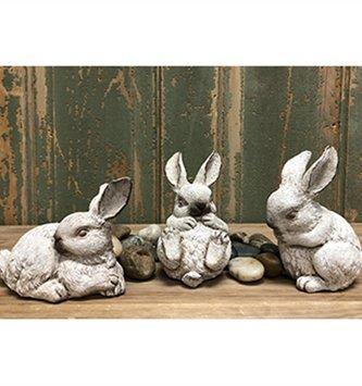 Set of 3 Playful Bunnies
