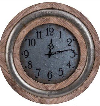 Galvanized Circular Clock