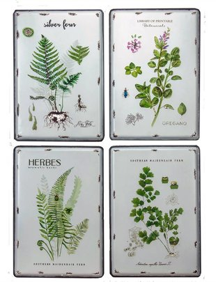 Metal Enamel Botanical Print (4 Styles)