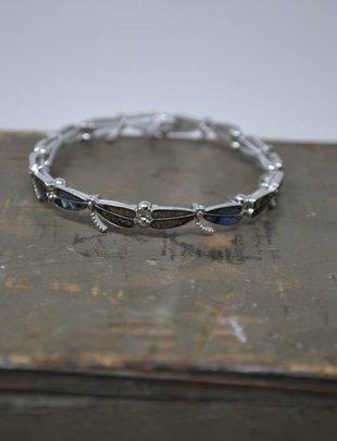 Abalone Dragonfly Stretch Bracelet