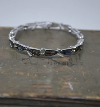 Abalone Dragonfly Stretch Bracelet