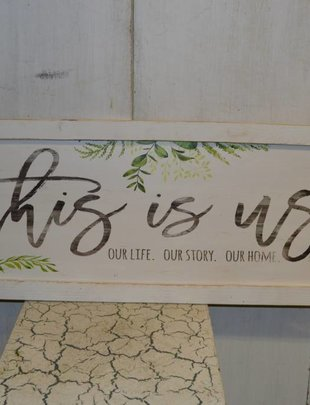 This is Us Whitewashed Frame