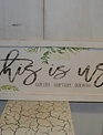Whitewashed This is Us Framed Sign