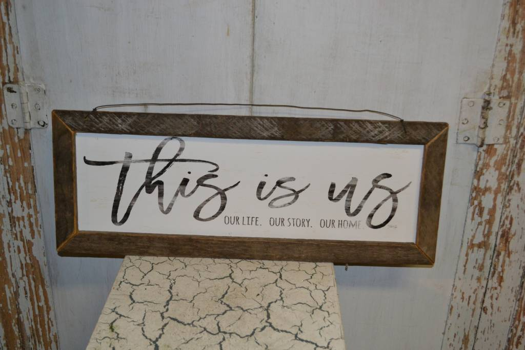 This is Us Rustic Framed Sign