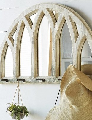 Distressed Arched Mirror