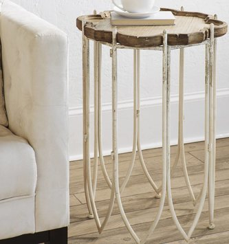 Wooden Distressed Accent Table