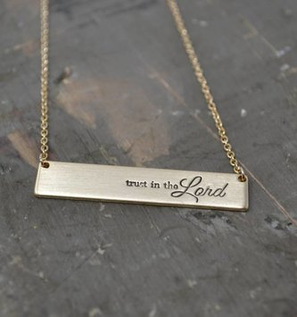 Gold Trust in the Lord Necklace