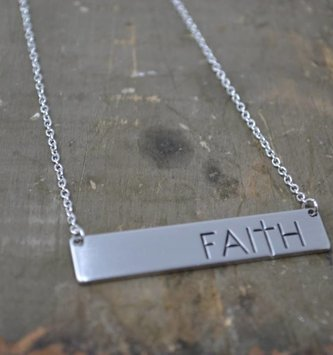 Silver Faith Necklace