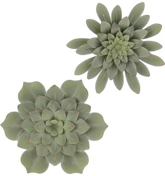 Succulent Metal Wall Art (2 Styles)