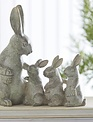 Sage Distressed Mom & Baby Bunnies