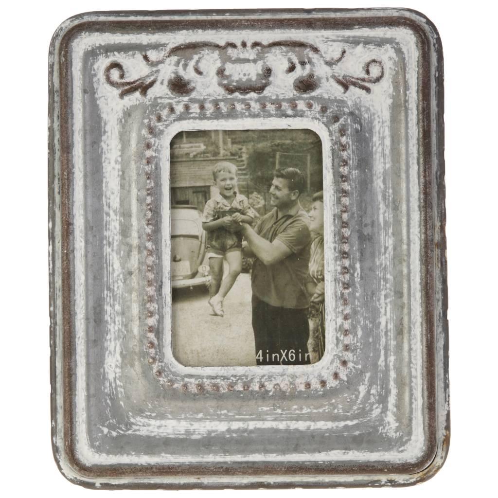 4x6 Galvanized Whitewashed Frame